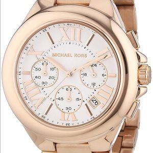 MICHAEL KORS rose gold chronograph watch ✨